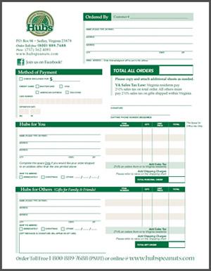 HUbs Order Form