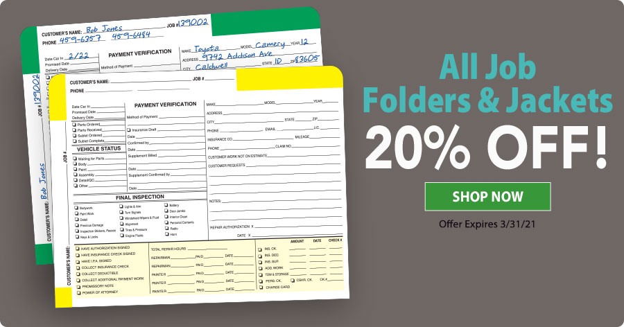 20% Off All Job Folders!