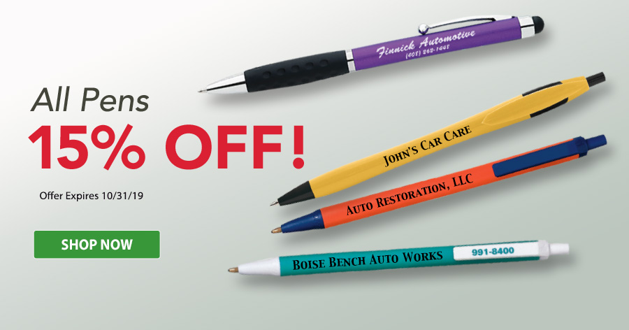 15% Off All Pens!