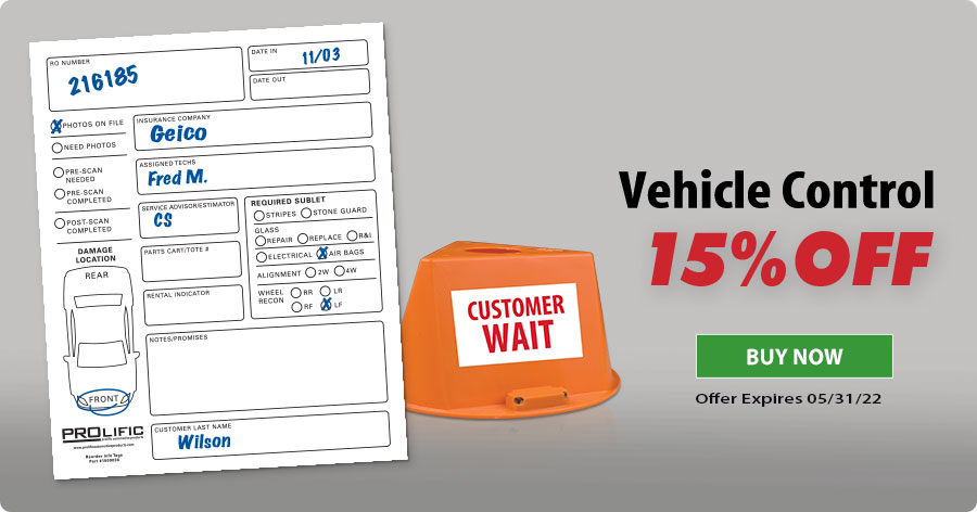 Vehicle Control 15% Off