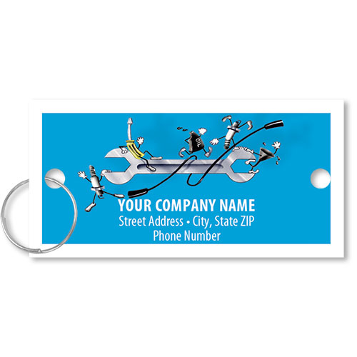 Personalized Full-Color Key Tags - Tools & Supplies