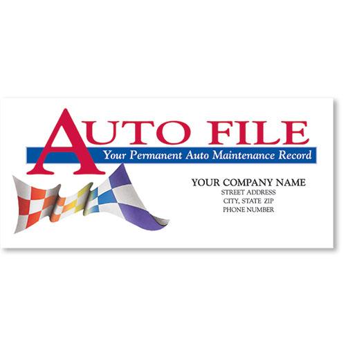 Full-Color Auto Files - Checkered Flag withou Gun