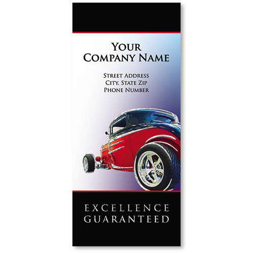 Custom Foil Auto Document Holders with Double Pocket - Excellence Guarantted II