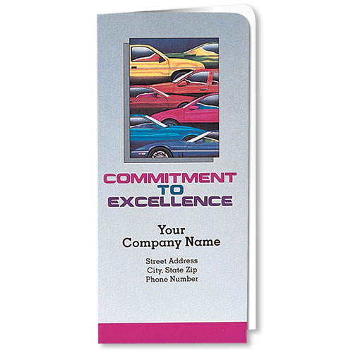 Custom Full-Color Auto Document Holders with Single Pocket - Colorful Cars
