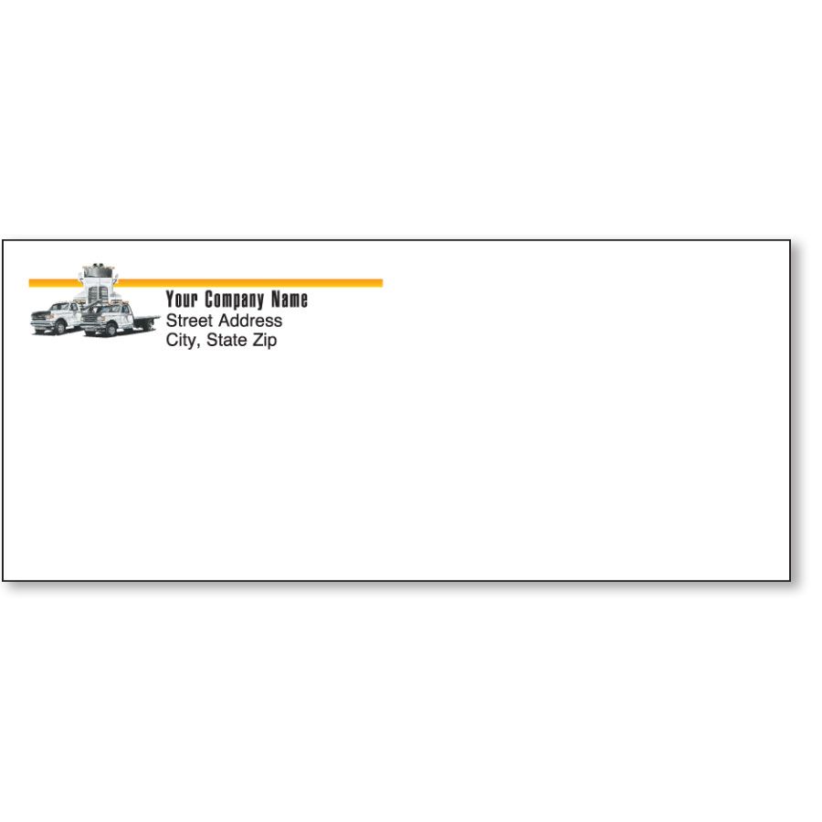 Stationery Envelope - Tow Truck Trio