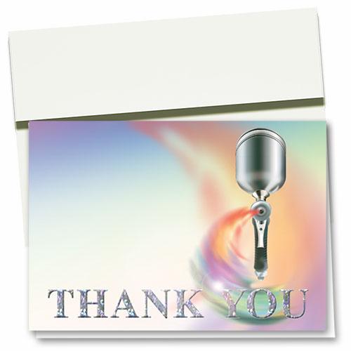 Foil Automotive Thank You Cards - Paint Spray Gun
