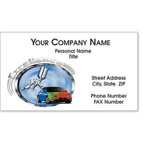 Designer Automotive Business Cards - Colors of Excellence