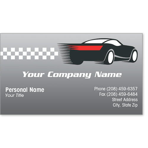 Designer Automotive Business Cards - Speedway Auto