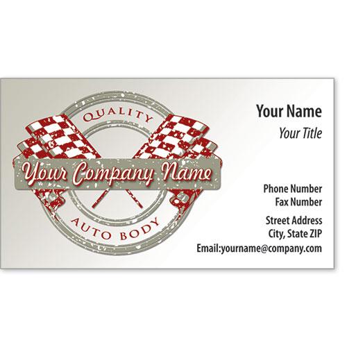 Designer Business Card -Quality Flags Auto Body