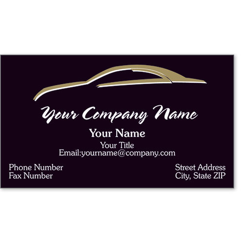 Designer Business Card -Gold Silhouette