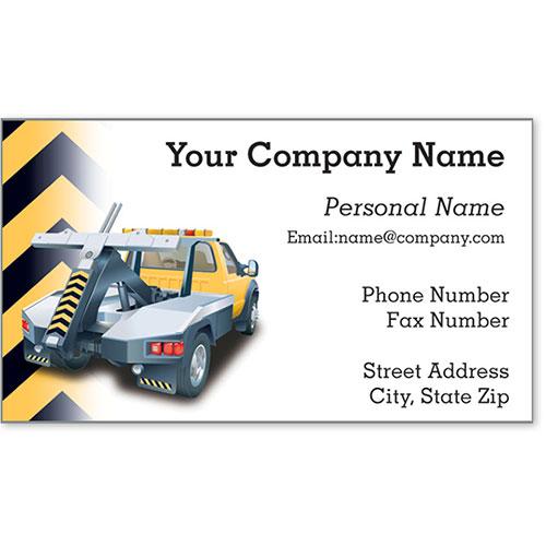 Designer Automotive Business Cards - Cautious Towing