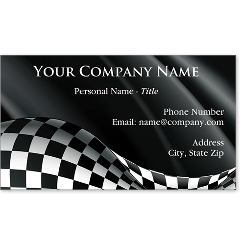 Designer Automotive Business Cards - Winner's Falg