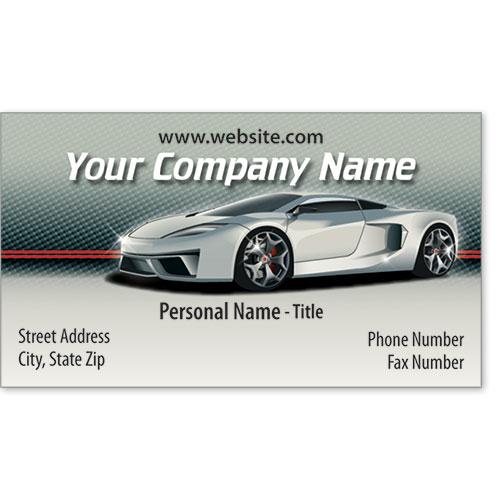 Designer Automotive Business Cards - Silver Showcase