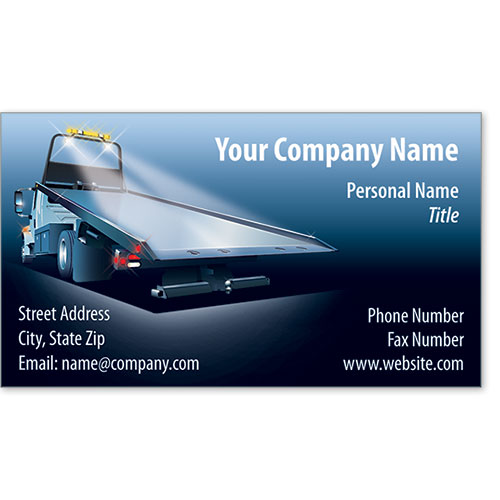 Designer Automotive Business Cards - Azure Towing
