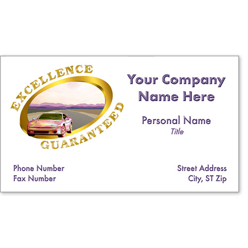 Business Card Foil - Excellence Guaranteed