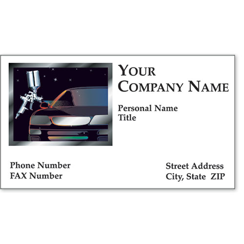 Automotive Business Cards with Foil - Modern Miracle II