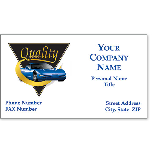 Automotive Business Cards with Foil - Triangle of Quality