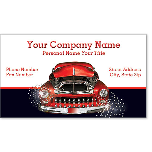 Automotive Business Cards with Foil - Sparkling Chrome
