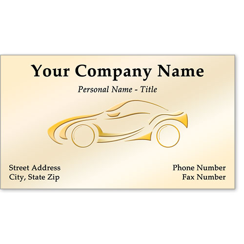Business Card Foil - Gold