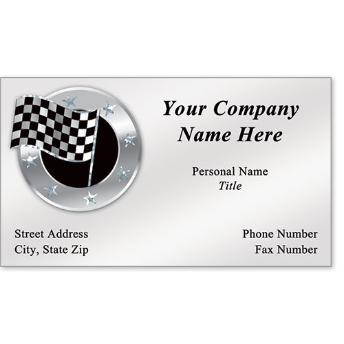 Automotive Business Cards with Foil - Stars & Checks