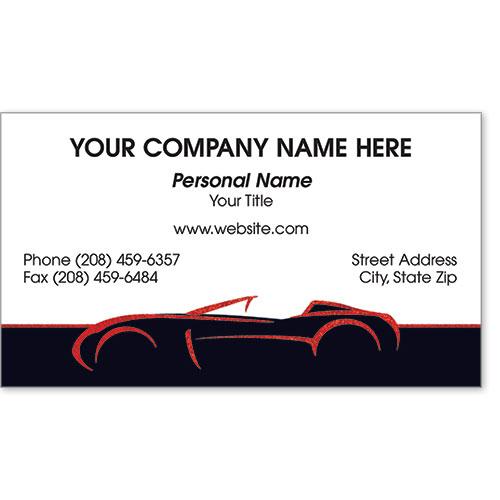 Business Card Foil - Red Shimmer