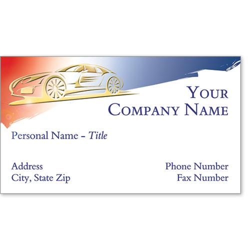 Automotive Business Cards with Foil - Gold Patriotism