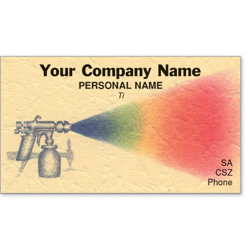 Premier Automotive Business Cards - Rainbow Spray