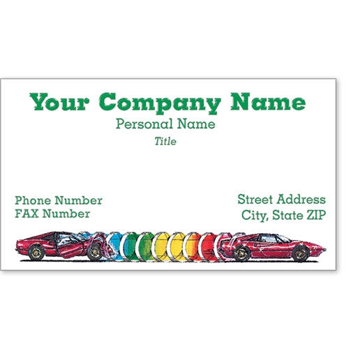 Premier Automotive Business Cards - Tunnel of Repair