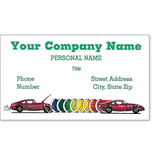 Premier Automotive Business Cards - Before & After