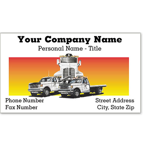 Premier Business Card - Tow Truck Trio
