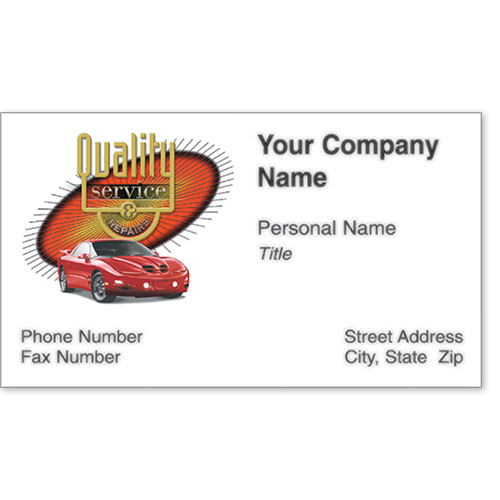 Premier Business Card - Burst of Quality