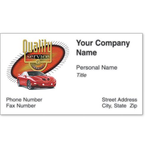 Premier Automotive Business Cards - Burst of Quality