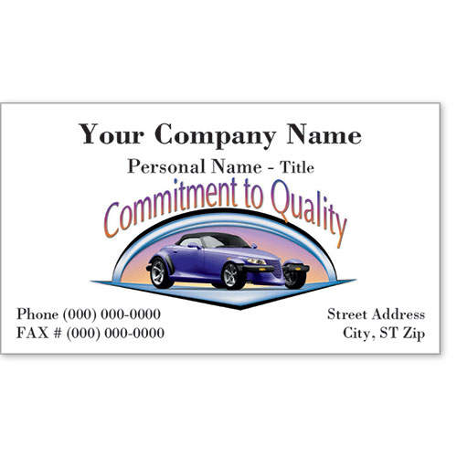 Premier Automotive Business Cards - A Touch of Class