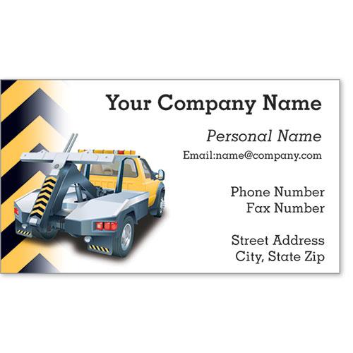 Premier Automotive Business Cards - Cautious Towing
