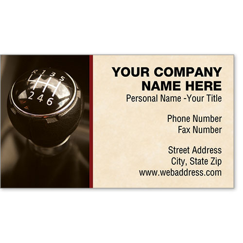 Premier Business Card - Shifting Gears