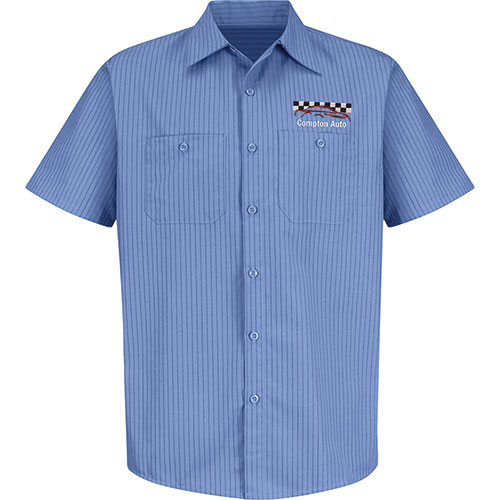 Redkap Work Shirt Ss Industrial With Stripes Towing Uniforms