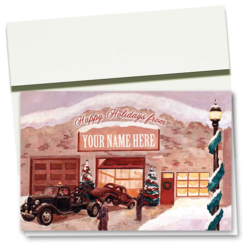 Double Personalized Full-Color Holiday Cards - Reminisce