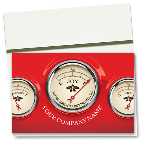 Double Personalized Full-Color Holiday Cards - Naughty and Nice