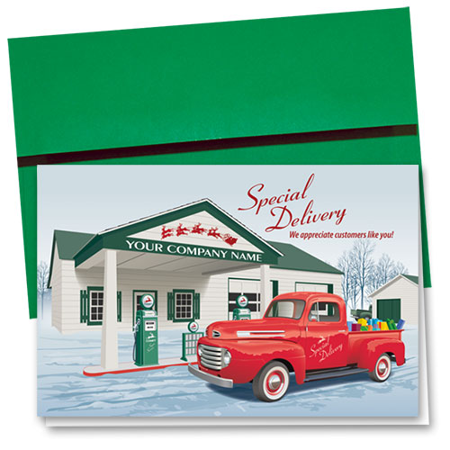 Double Personalized Full-Color Holiday Cards - Holiday Quick Stop