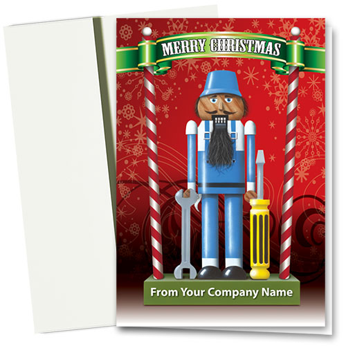 Double Personalized Full-Color Auto Holiday Cards - The Nutcracker