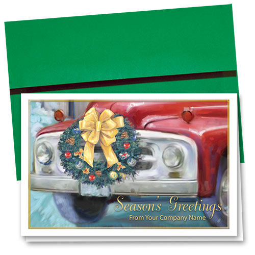 Double Personalized Full-Color Auto Holiday Cards