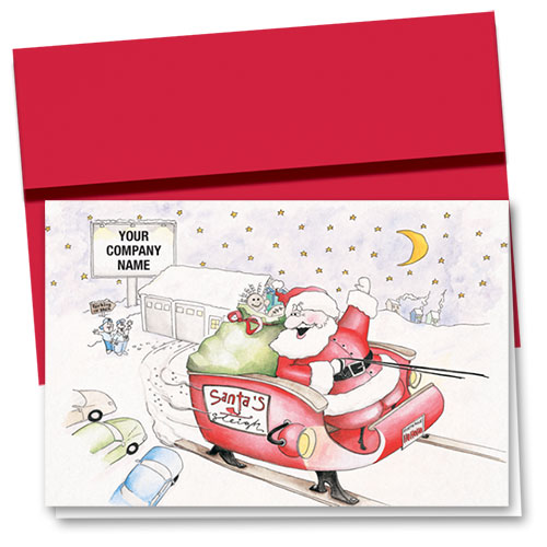 Double Personalized Full Color Auto Holiday Cards
