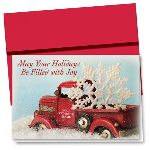 Double Personalized Full-Color Holiday Cards