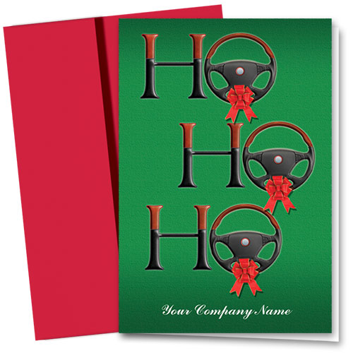 Double Personalized Full Color Holiday Card-Santa's Phrase