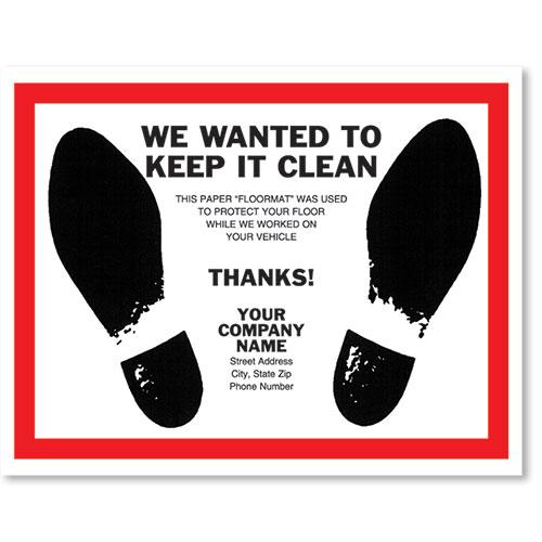 Personalized Full-Color Paper Floor Mats - Dress Shoe Prints