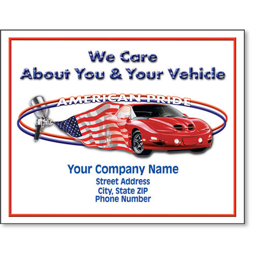 Personalized Full-Color Paper Floor Mats - American Pride II