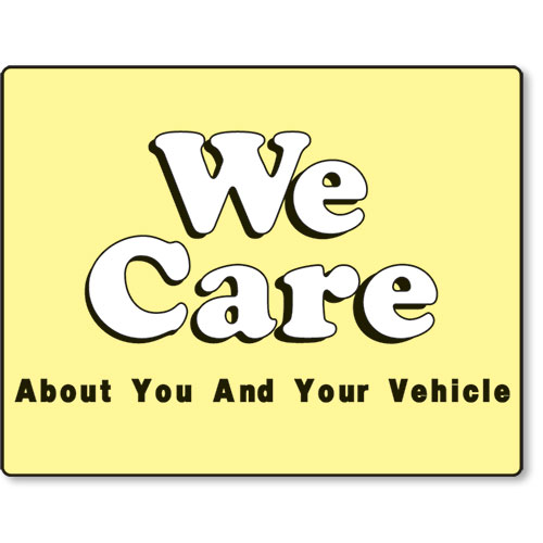 Standard Paper Floor Mats - We Care About You & Your Vehicel II