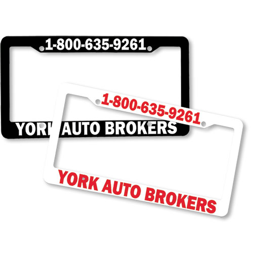 License Plate Frames Raised Imprint Auto Body Supplies
