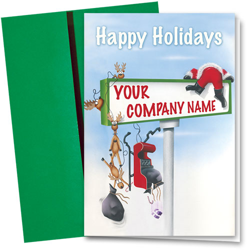 Double Personalized Full Color Holiday Card-Collision Course