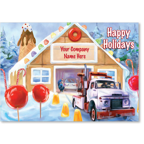 Double Personalized Full Color Holiday Postcards Gumdrop